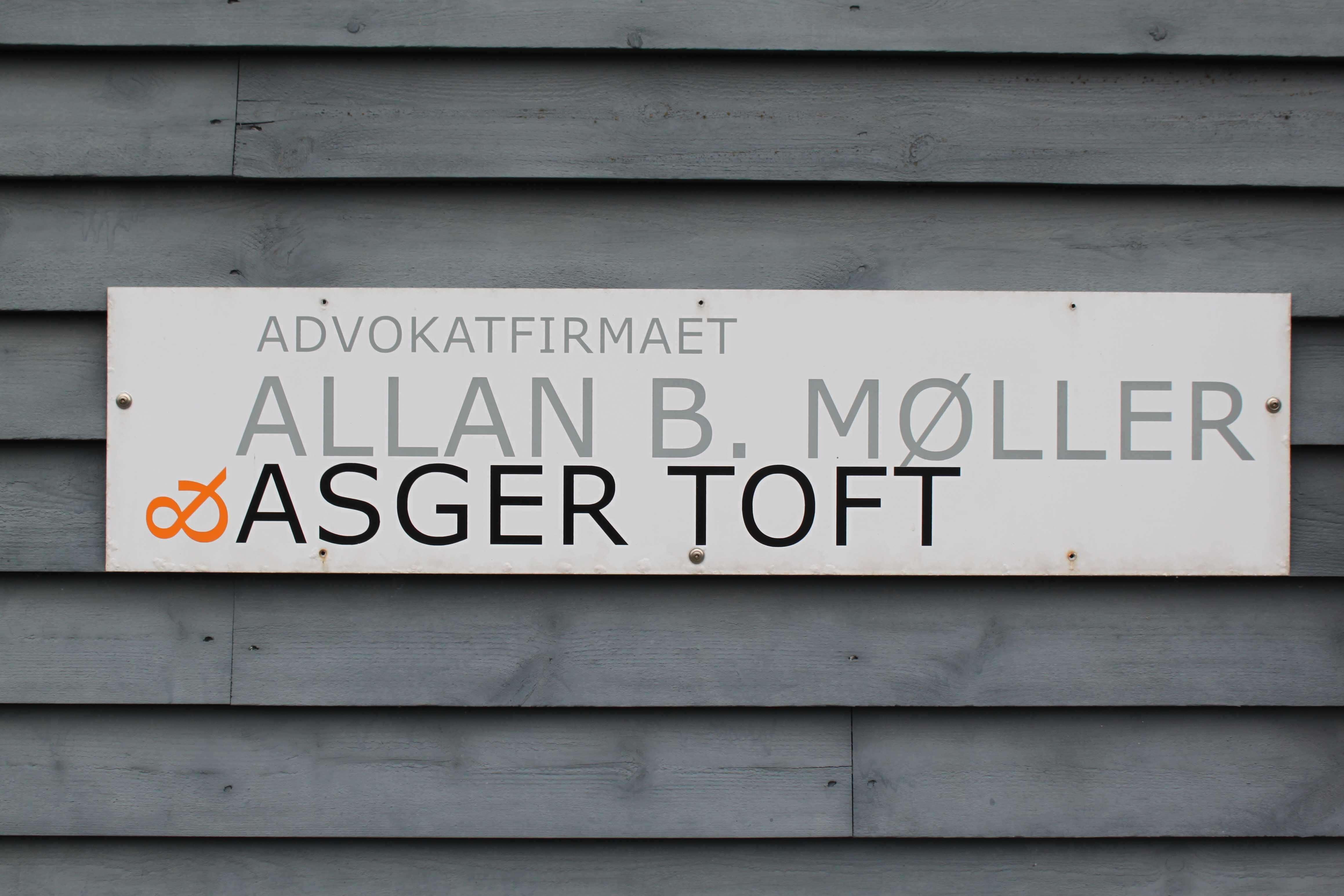 Advokatfirmaet Allan B. Møller & Asger Tofts arbejdsområder omfatter både private og erhvervs kunder